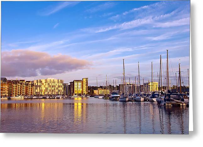 Sailboat Photos Greeting Cards - Ipswich Greeting Card by Svetlana Sewell