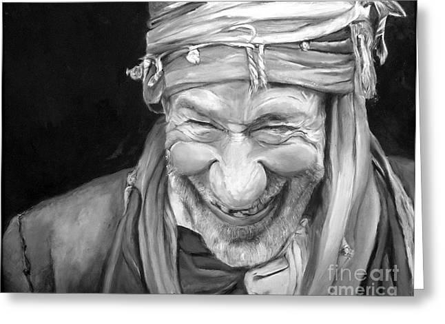 Iranian Man Greeting Card by Enzie Shahmiri