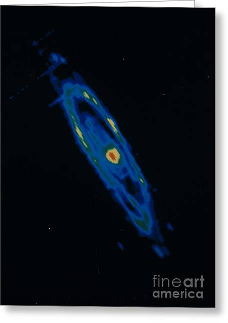 Andromeda Galaxy Greeting Cards - Iras Infrared Image Of The Andromeda Greeting Card by NASA / Science Source