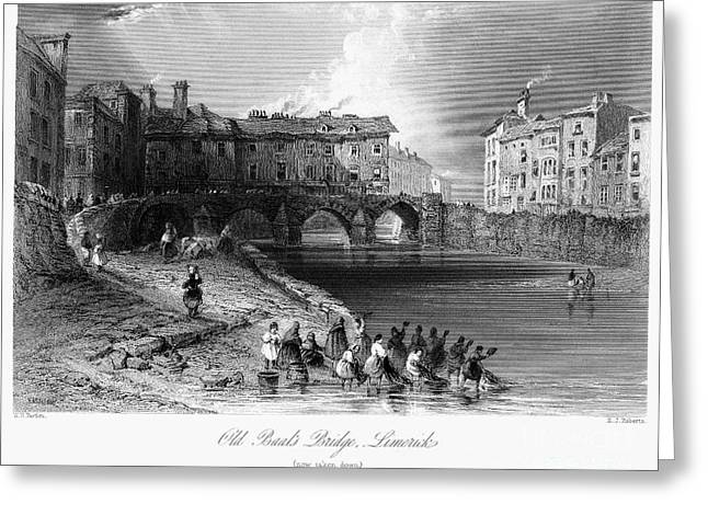 Baal Greeting Cards - IRELAND: LIMERICK, c1830 Greeting Card by Granger