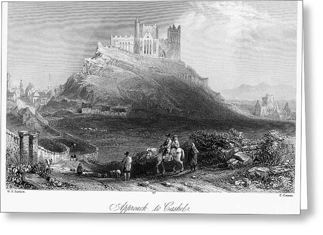 Cathedral Rock Greeting Cards - Ireland: Rock Of Cashel Greeting Card by Granger