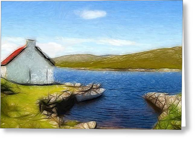 Oil Pastels Pastels Greeting Cards - Irelands Beauty Greeting Card by Stefan Kuhn