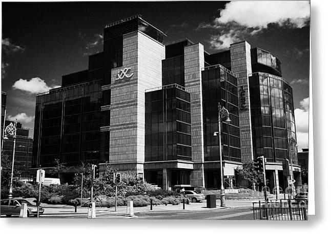 Irelands IFSC International financial services centre in dublins docklands dublin city centre Greeting Card by Joe Fox