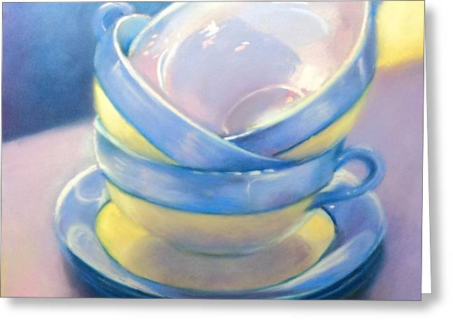 Cup Pastels Greeting Cards - Iridescence #1 Greeting Card by Judy Albright
