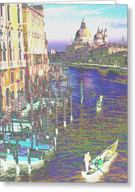 Evocative Greeting Cards - Iridescent Venice Greeting Card by Tom Wurl