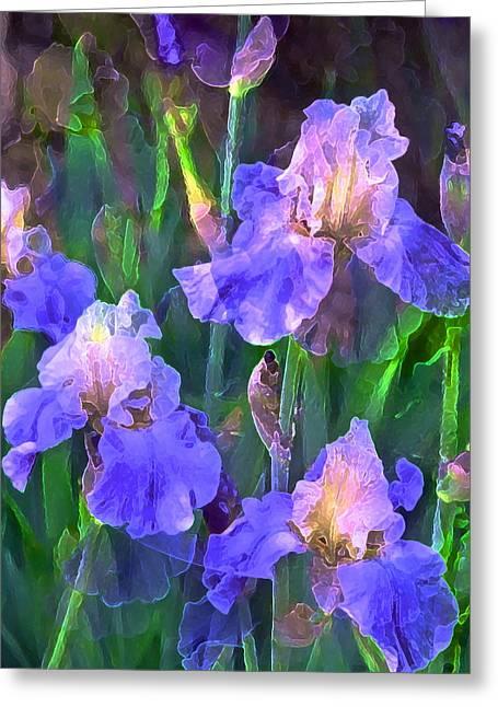 Iris 51 Greeting Card by Pamela Cooper