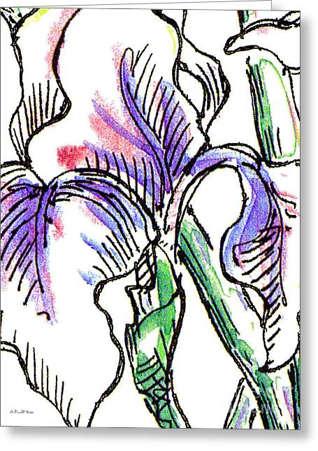 Rose Greeting Cards - Iris Abstract Painting 2 Greeting Card by Gordon Punt
