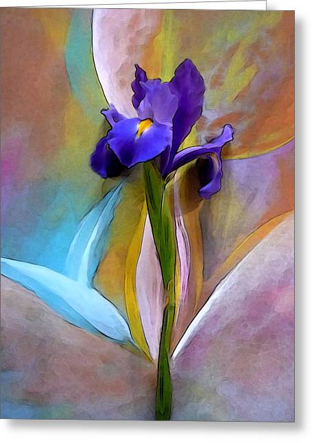 Visionary Artist Greeting Cards - Iris and Bluebird Greeting Card by George  Page
