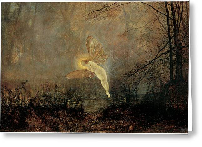 Recently Sold -  - Victorian Greeting Cards - Iris Greeting Card by John Atkinson Grimshaw
