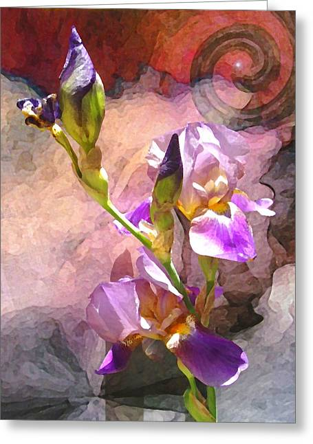 Visionary Artist Greeting Cards - Iris Spiral Greeting Card by George  Page