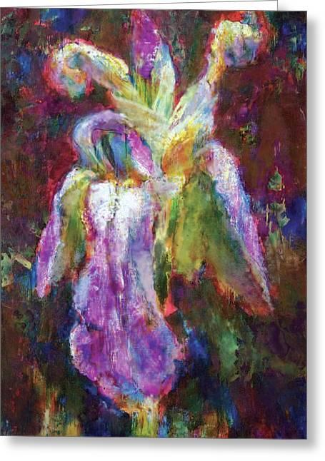 Iris Vrubel Greeting Card by Petro Bevza