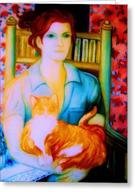 Gay Art Framed Giclee On Canvas Greeting Cards - IRISH BLISS    Art Deco Greeting Card by Gunter  Hortz