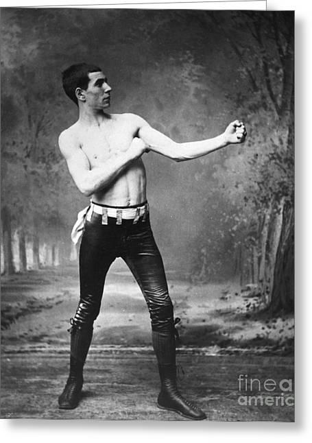1890s Greeting Cards - IRISH BOXER, 1890s Greeting Card by Granger