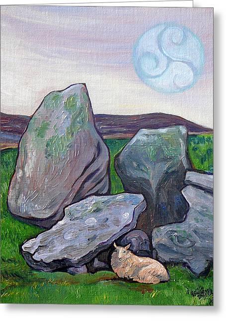 Visionary Artist Greeting Cards - Irish Dolmen Greeting Card by Susan Tower