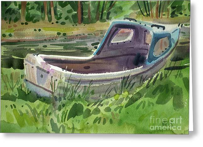 Irish Fishing Boat Greeting Card by Donald Maier