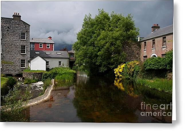 Irish Houses Greeting Card by Louise Fahy