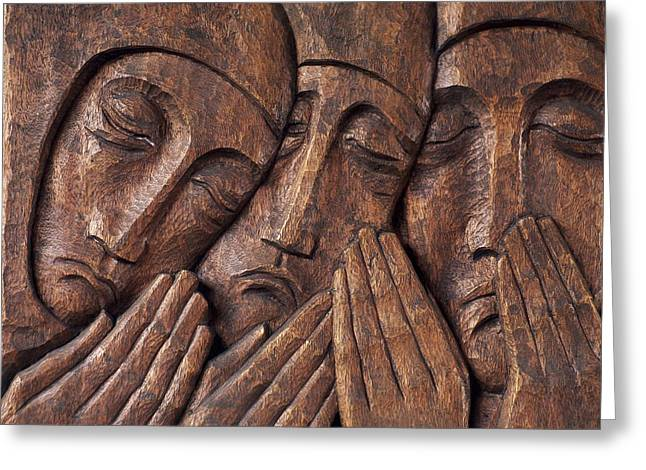 Wood Carving Greeting Cards - Irish Jewish Museum, Portobello Dublin Greeting Card by The Irish Image Collection