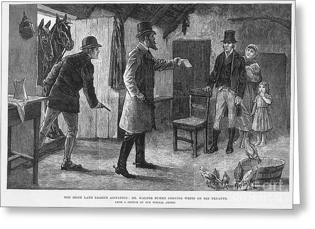 Eviction Greeting Cards - Irish Land League, 1881 Greeting Card by Granger