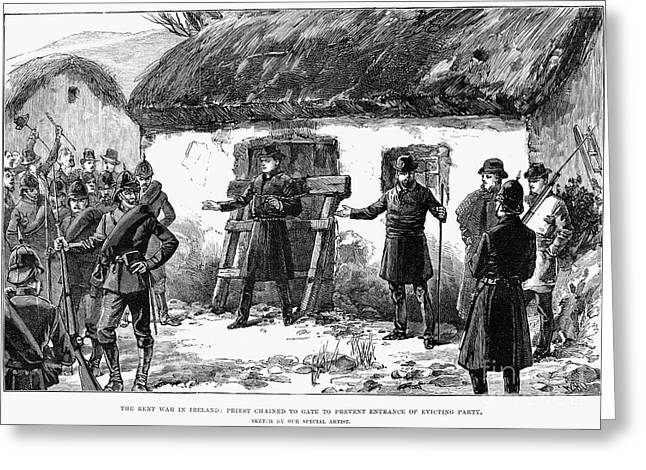 Eviction Greeting Cards - Irish Land League, 1887 Greeting Card by Granger