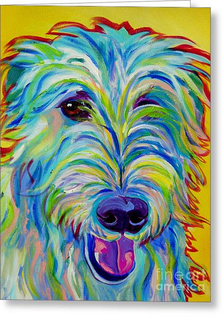 Alicia Vannoy Call Paintings Greeting Cards - Irish Wolfhound - Angus Greeting Card by Alicia VanNoy Call
