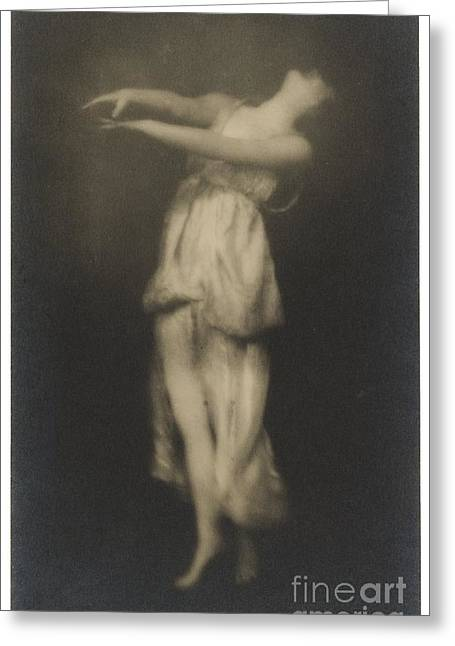 Modern Dance Greeting Cards - Irma Duncan Greeting Card by Arnold Genthe