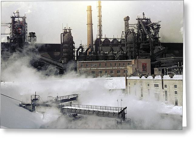 Steel: Iron Greeting Cards - Iron And Steel Works Greeting Card by Ria Novosti
