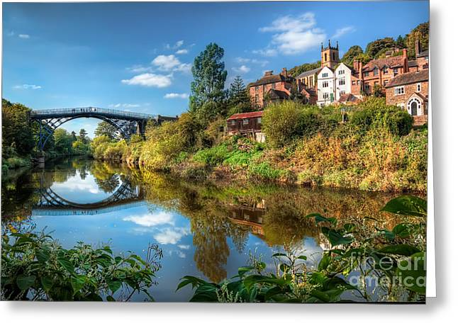 Coalbrookdale Greeting Cards - Iron Bridge 1779 Greeting Card by Adrian Evans