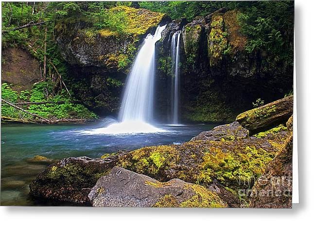 Iron Creek Falls Greeting Card by Marcus Angeline