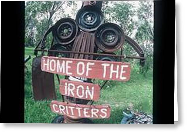 Antique Ironwork Digital Art Greeting Cards - Iron Critter Greeting Card by The Signs of the times Collection