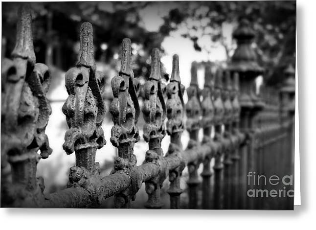 Antique Ironwork Greeting Cards - Iron Fence 2 Greeting Card by Perry Webster