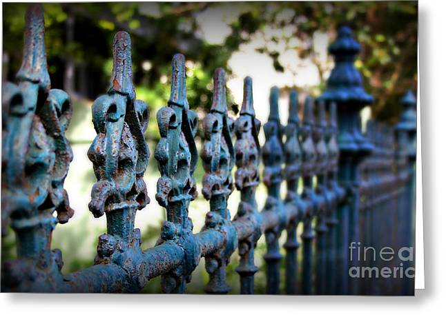 Antique Ironwork Greeting Cards - Iron Fence Greeting Card by Perry Webster