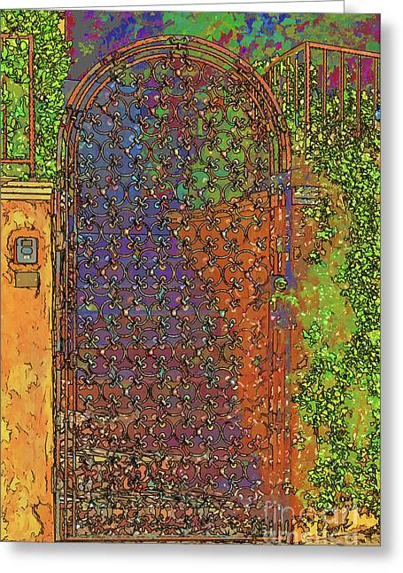 Plant Hollywood Greeting Cards - Iron Gate in Hollywood Greeting Card by Mariola Bitner