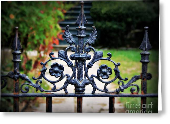 Antique Ironwork Greeting Cards - Iron Gate Greeting Card by Perry Webster