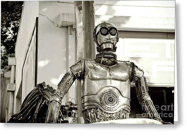 Streets Sculptures Greeting Cards - Iron man Greeting Card by Yurix Sardinelly