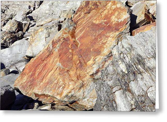 Iron Oxide Greeting Cards - Iron Oxide Deposit Greeting Card by Victor De Schwanberg