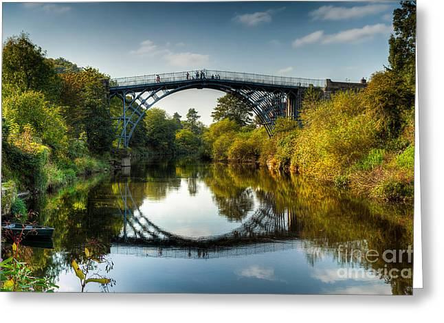 Ironbridge Greeting Card by Adrian Evans