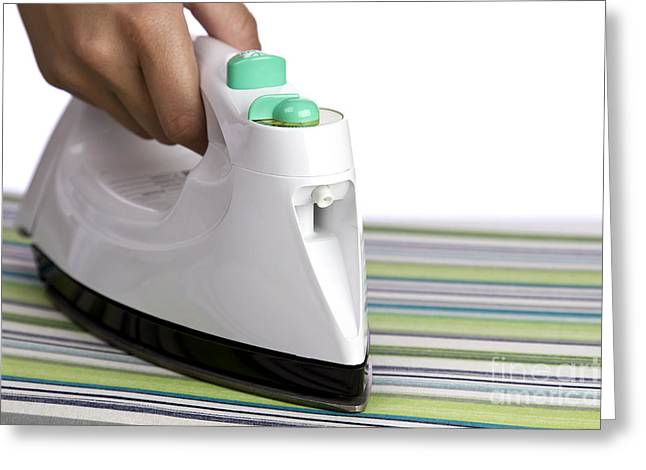 Hot Iron Greeting Cards - Ironing Greeting Card by Blink Images