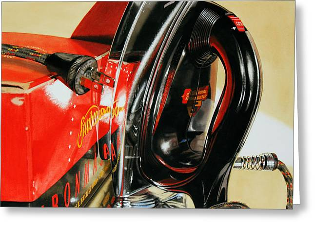 Super Realism Paintings Greeting Cards - Ironmaster Greeting Card by Denny Bond