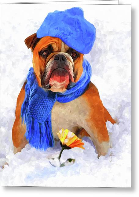 Bully Paintings Greeting Cards - Is It Spring Yet Greeting Card by Jai Johnson