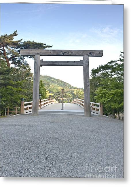 Torii Greeting Cards - Isa Shrine Torii Gate Greeting Card by Rob Tilley