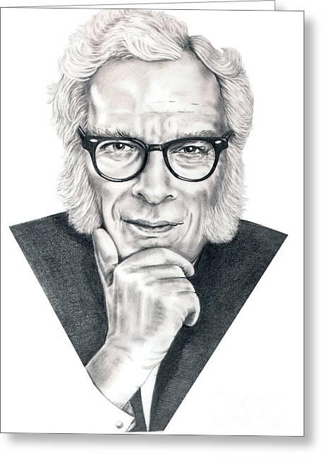 Murphy Elliott Greeting Cards - Isaac Asimov Greeting Card by Murphy Elliott