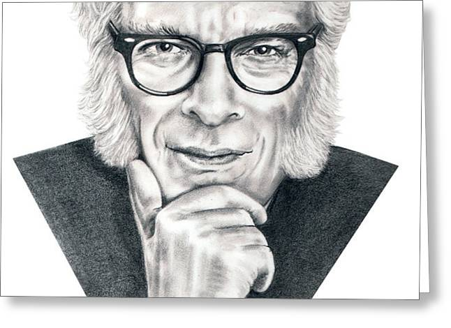 Isaac Asimov Greeting Card by Murphy Elliott