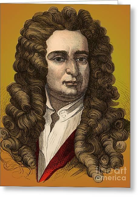 Isaac Newton Greeting Cards - Isaac Newton, English Polymath Greeting Card by Photo Researchers