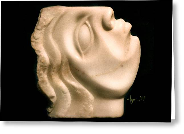 Mother Sculptures Greeting Cards - Isabella Greeting Card by Angela Treat Lyon