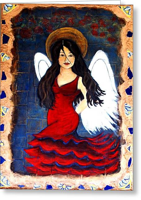 Earthangel Greeting Cards - Isabella Greeting Card by The Art With A Heart By Charlotte Phillips