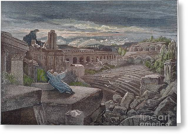 Babylon Photographs Greeting Cards - Isaiahs Vision Greeting Card by Granger