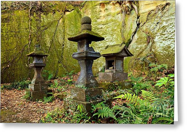 Moss-covered Greeting Cards - Ishidoro Greeting Card by Dean Harte