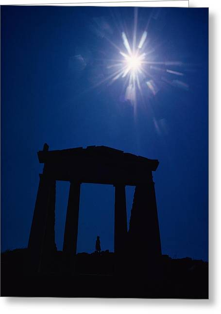 Delos Greeting Cards - Isis Temple And Sunburst, Delos Island Greeting Card by Winfield Parks