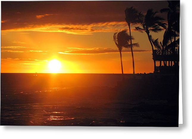 Sunset Greeting Cards Greeting Cards - Island Breeze Greeting Card by Athala Carole Bruckner