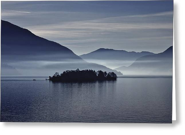 Islands Greeting Cards - Island In Morning Mist Greeting Card by Joana Kruse
